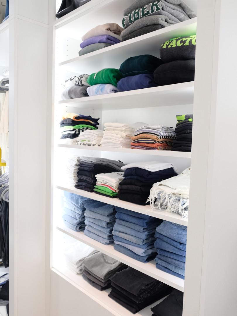 Shelves for Folded Clothing