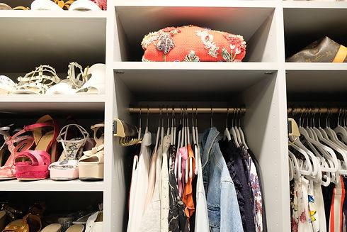 organizing a small closet
