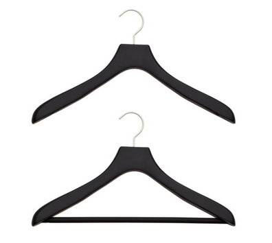 Black Soft Matte Suit Hangers