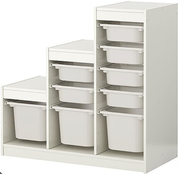 Storage Unit with Bins