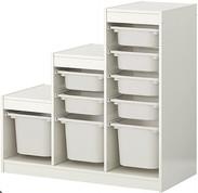 Storage Unit with Bins