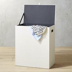 CB2 Shagreen Laundry Hamper