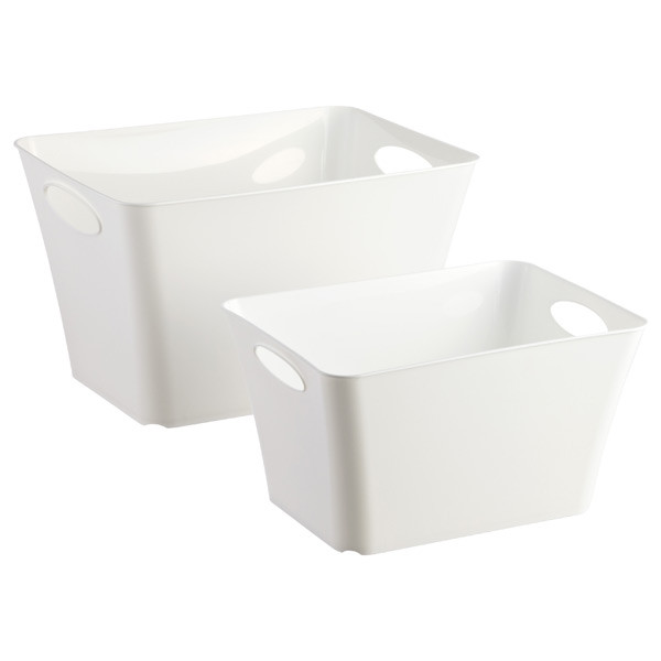 White Taper Storage Bins