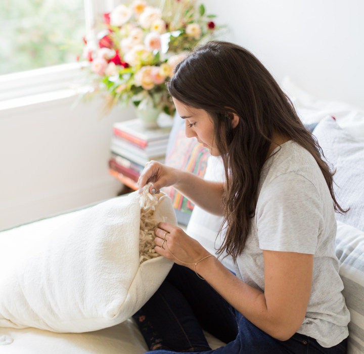An Avocado Green Pillow is non-toxic