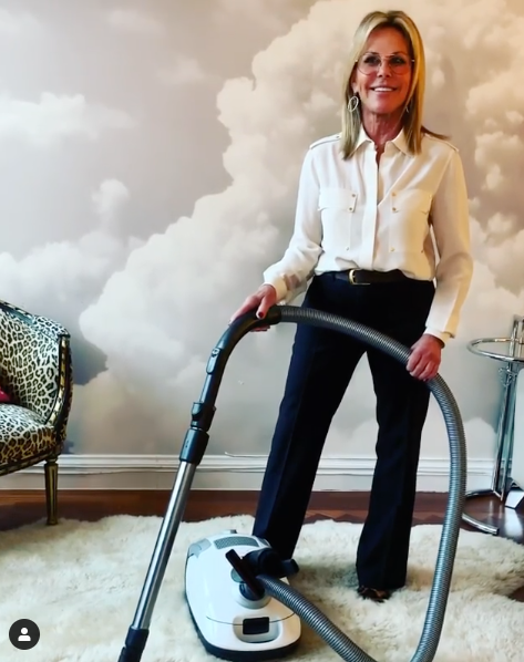 Lisa with her Miele vaccum