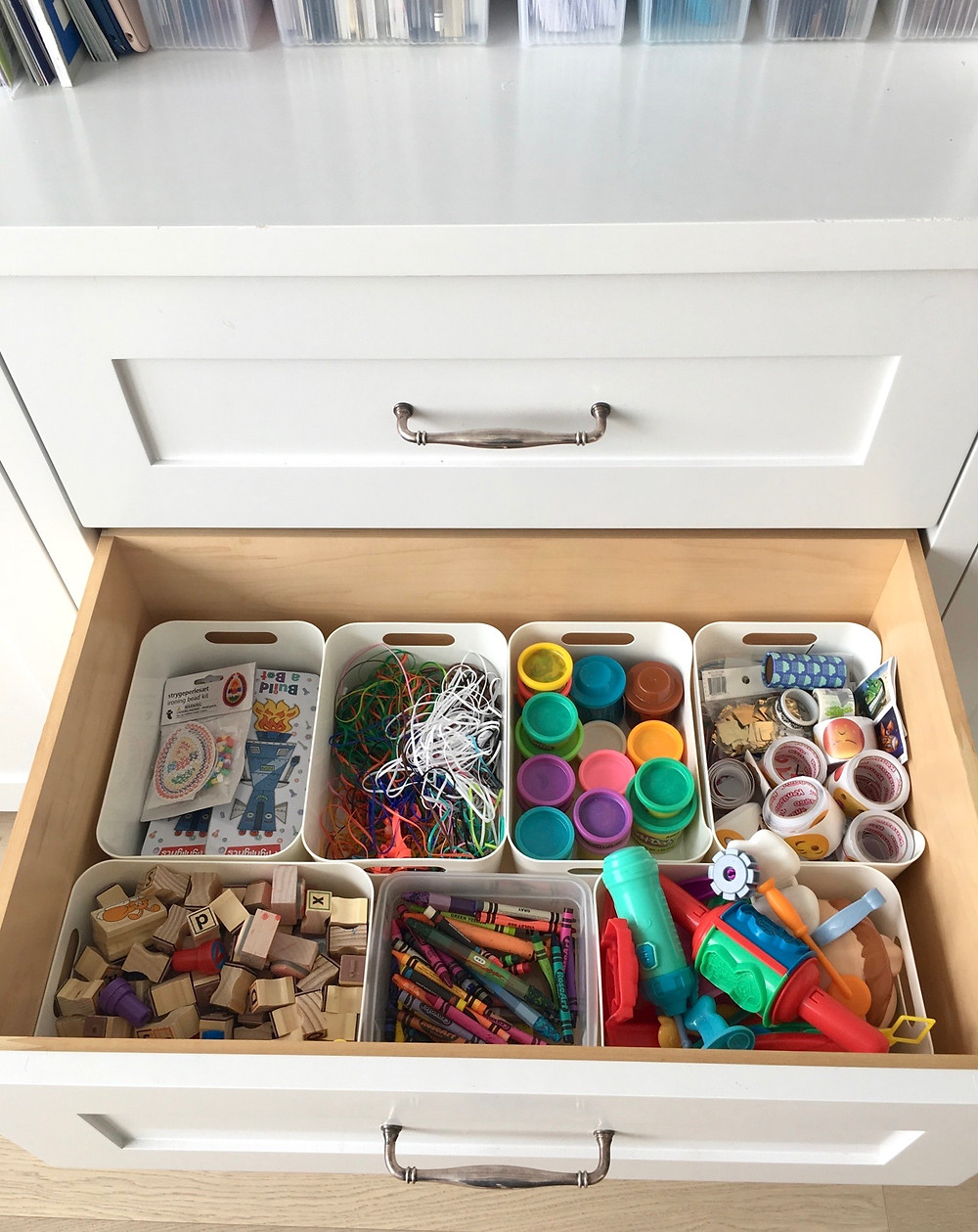bins for playroom organization