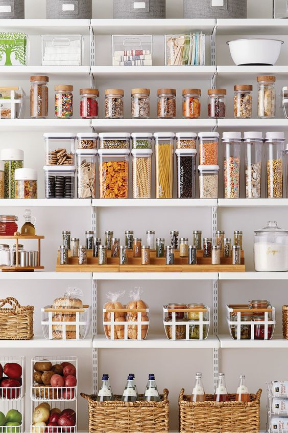glass DIY pantry