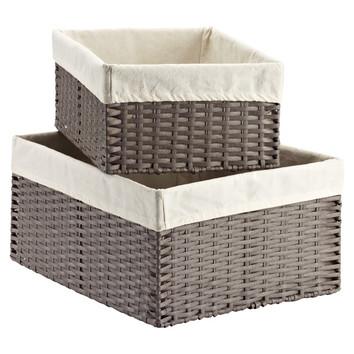 Grey Montauk Storage Bin