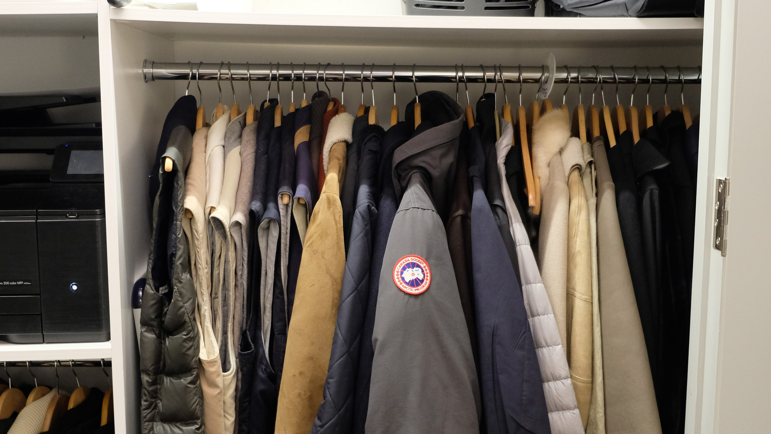 Closet organization after