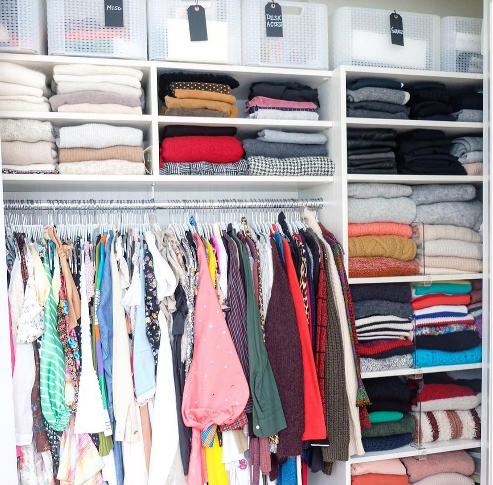 Closet organization for your master closet