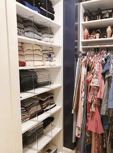 clear shelf dividers for closet organization