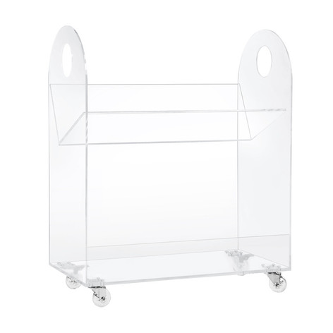 Acrylic Bookcase and Cart