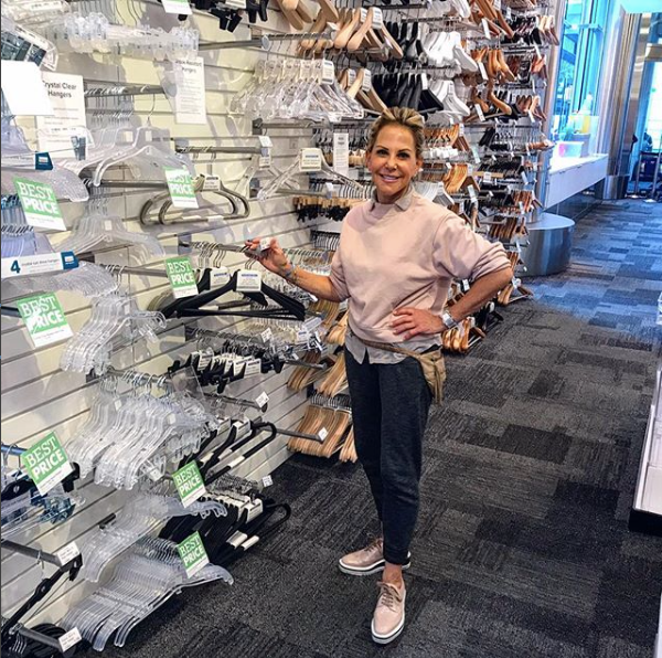 Lisa Jacobs showing her favorite acrylic hangers