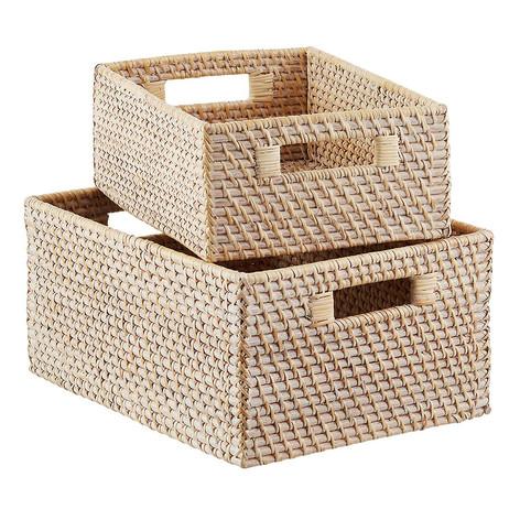 Rattan Storage Bin with Handles