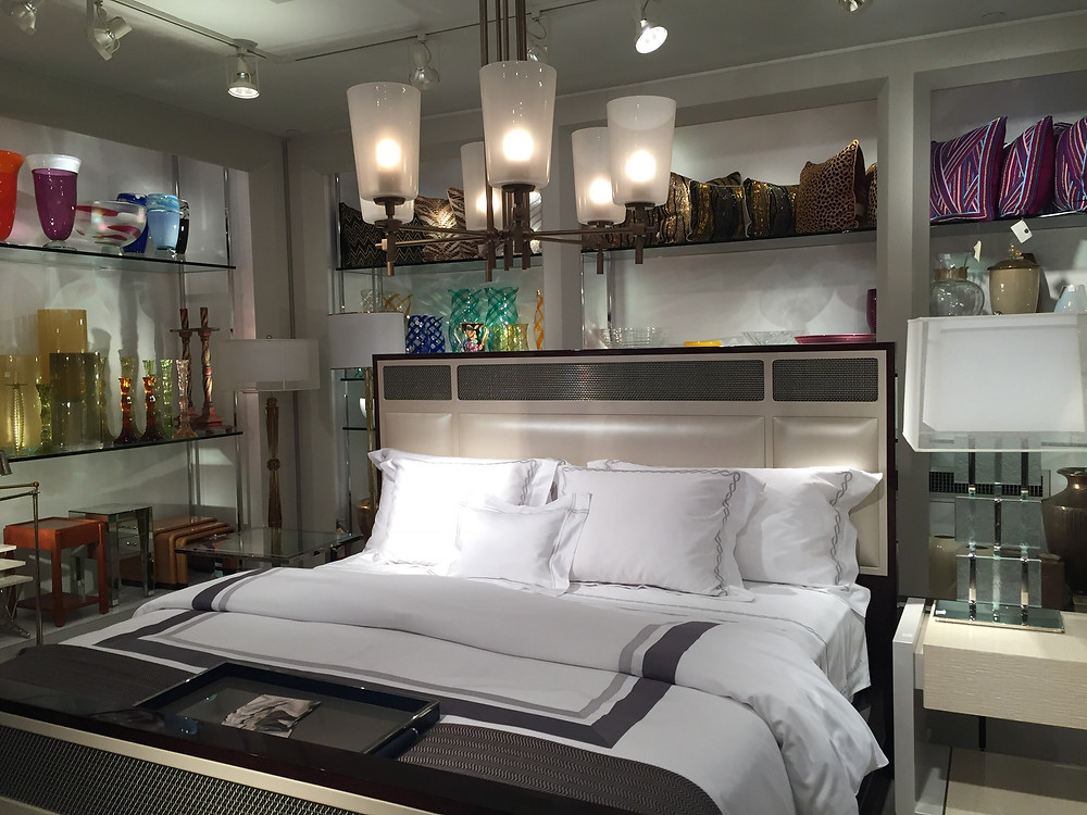 Linens on a bed
