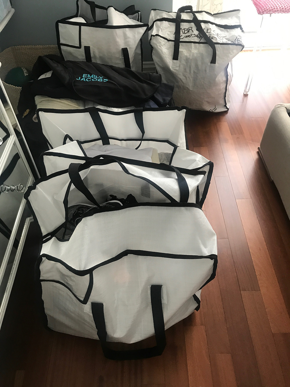 bags filled with items to purge