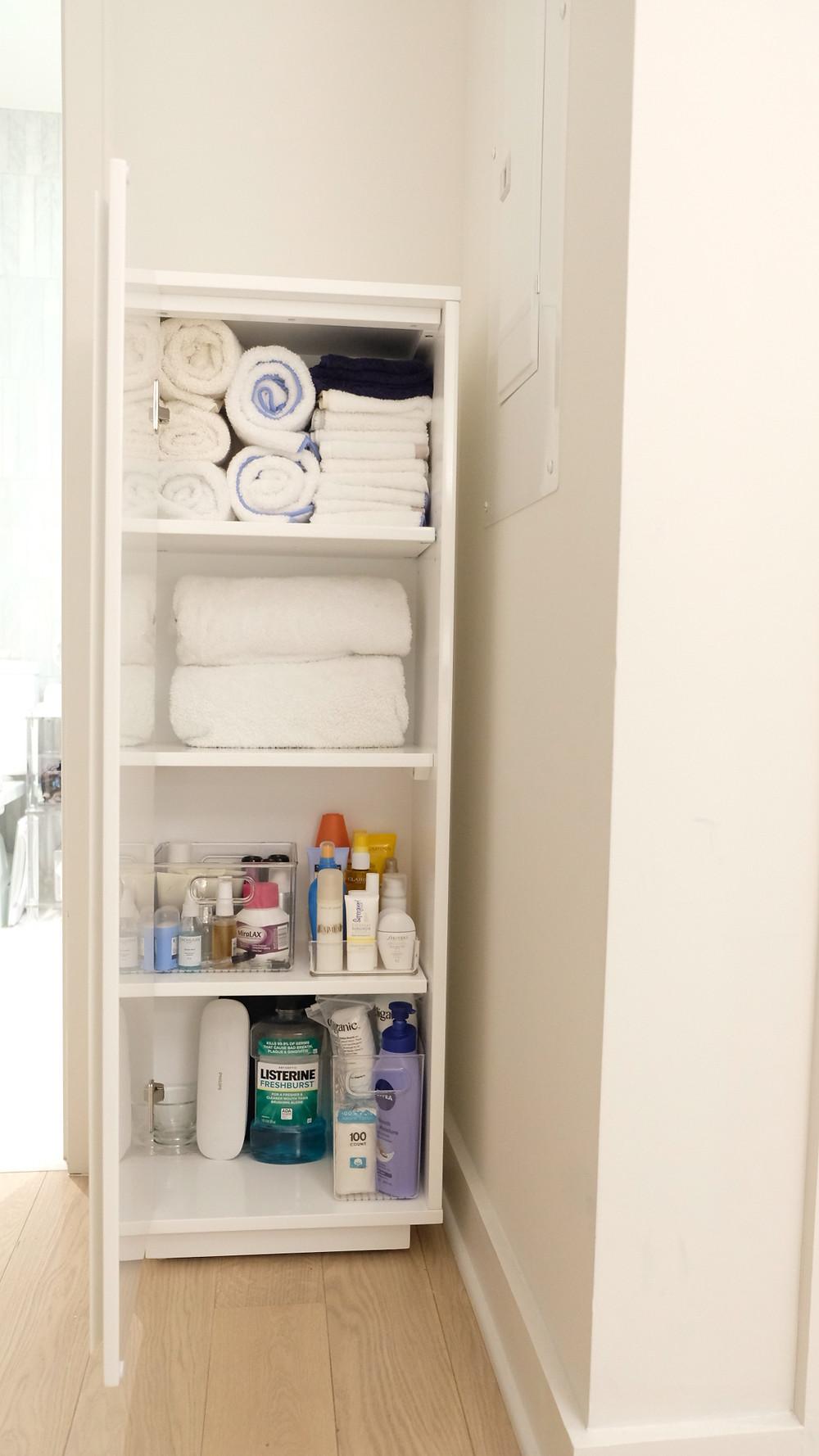 Standing storage closet