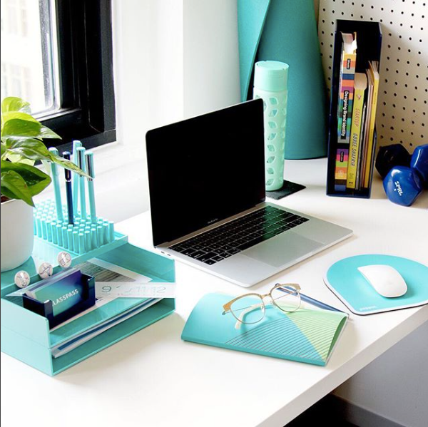 desk accessories displayed on a desktop