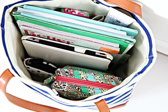 Organized bag for school supplies