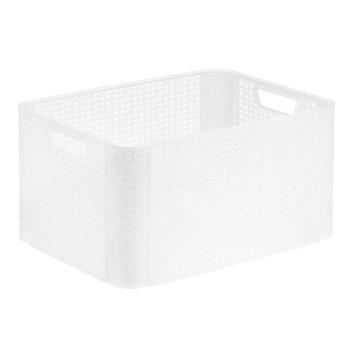 Basketweave Storage Bin