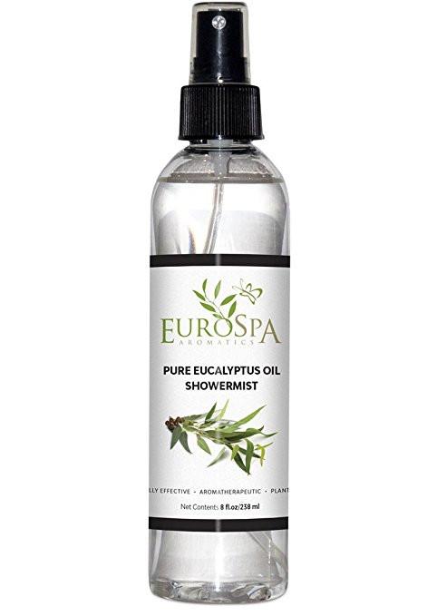 EuroSpa Aromatics Eucalyptus Oil Shower Mist and Steam Room Spray