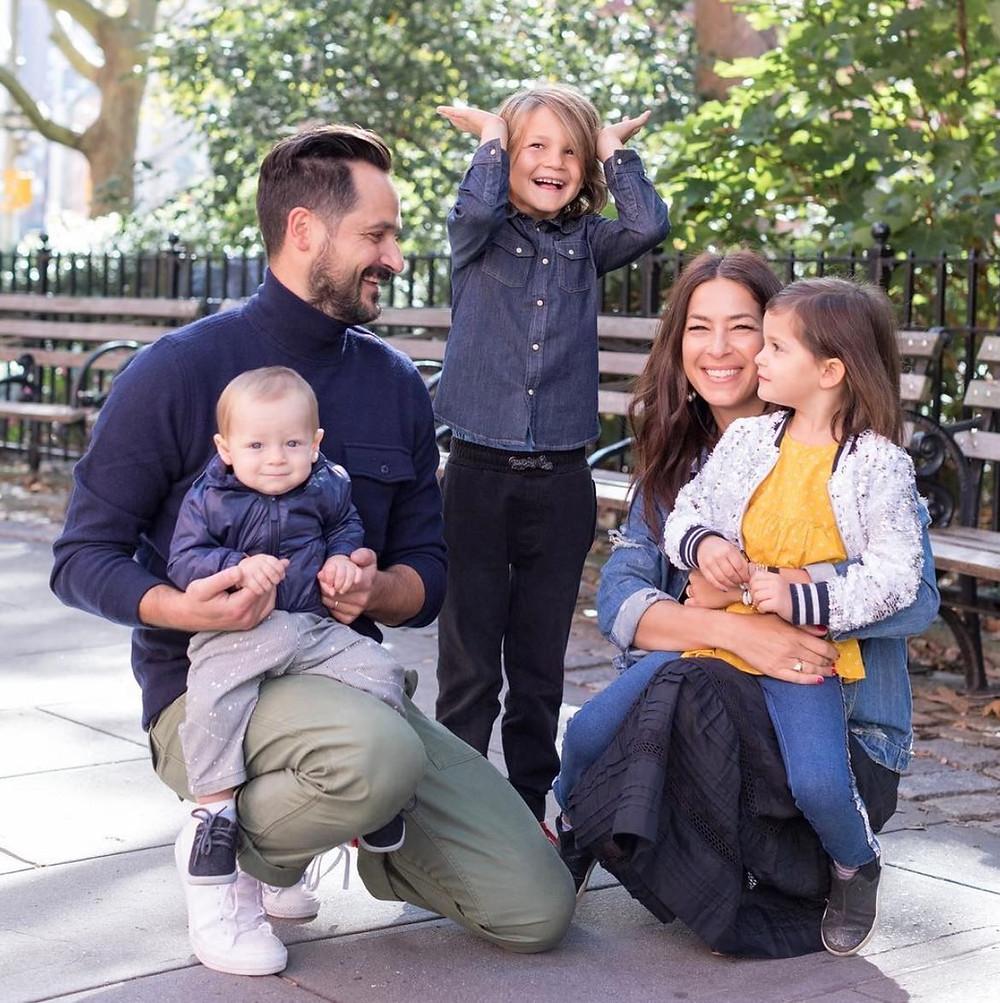 Rebecca Minkoff and family