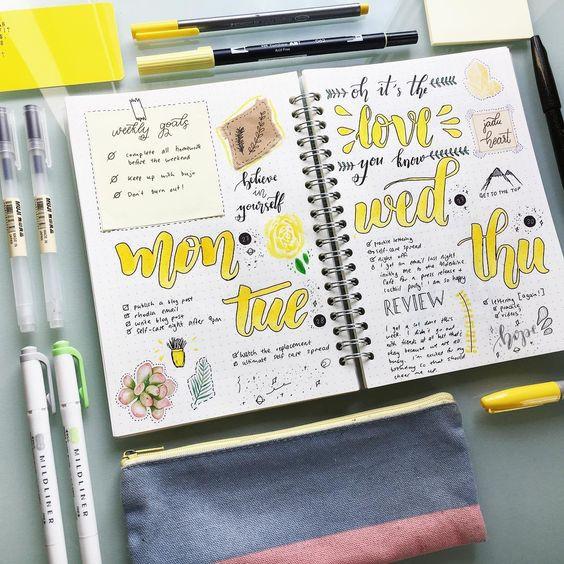 organized college notebook