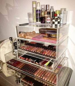 acrylic drawers for make up and jewelry organization