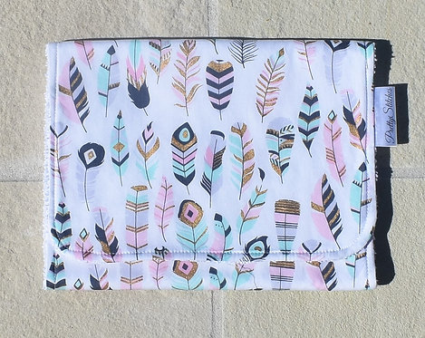 Feathers - Burp Cloth