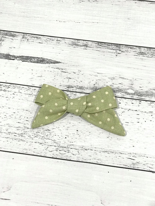 Olive Dots Bow