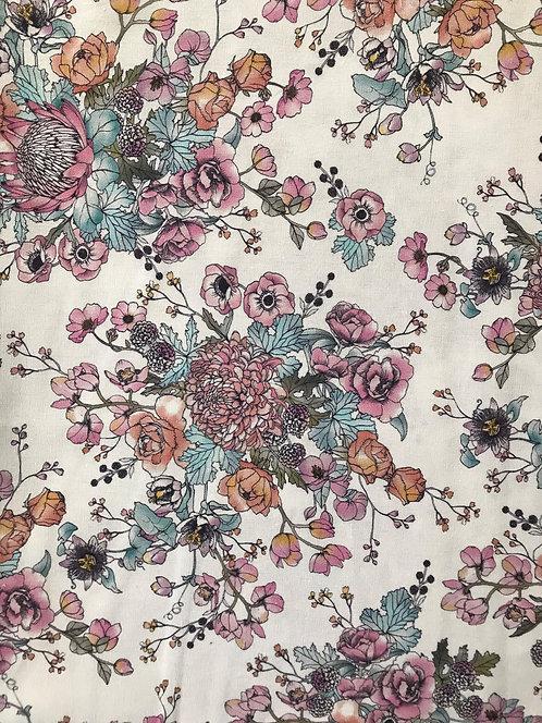 Romantic Blooms - Burp Cloth