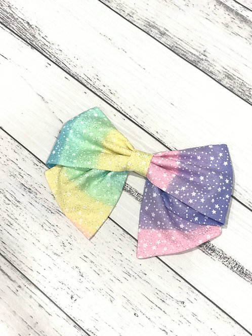 Sailor Bow - Rainbow Sparkle