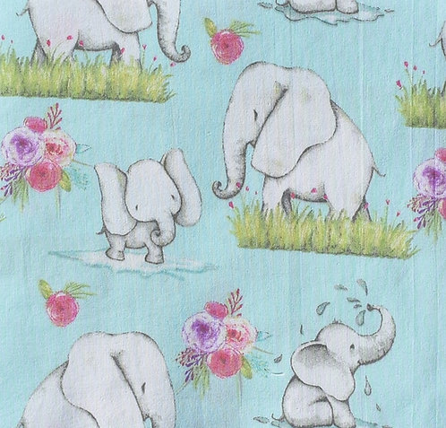 Elephants - Burp Cloths