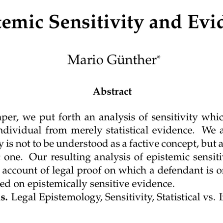 Epistemic Sensitivity and Evidence