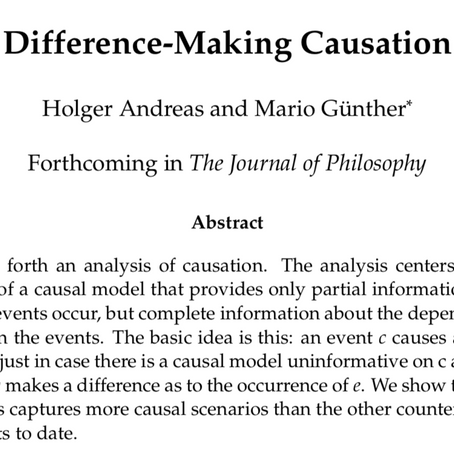 Difference-Making Causation