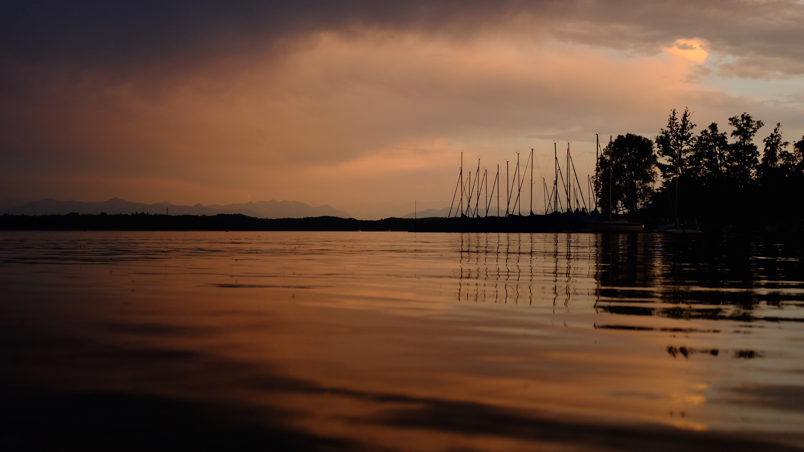 Lake Starnberg in the evening