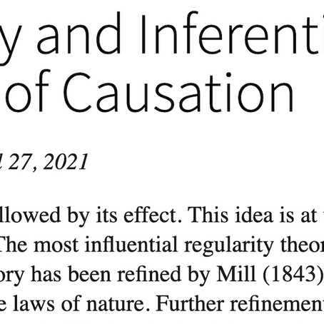 Regularity and Inferential Theories of Causation