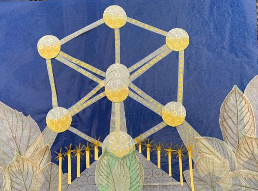 Nina a Viktor Mokošoví: Atomium v Bruseli (zapísané v zozname Unesco).