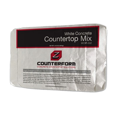 White Concrete Benchtop Mix
