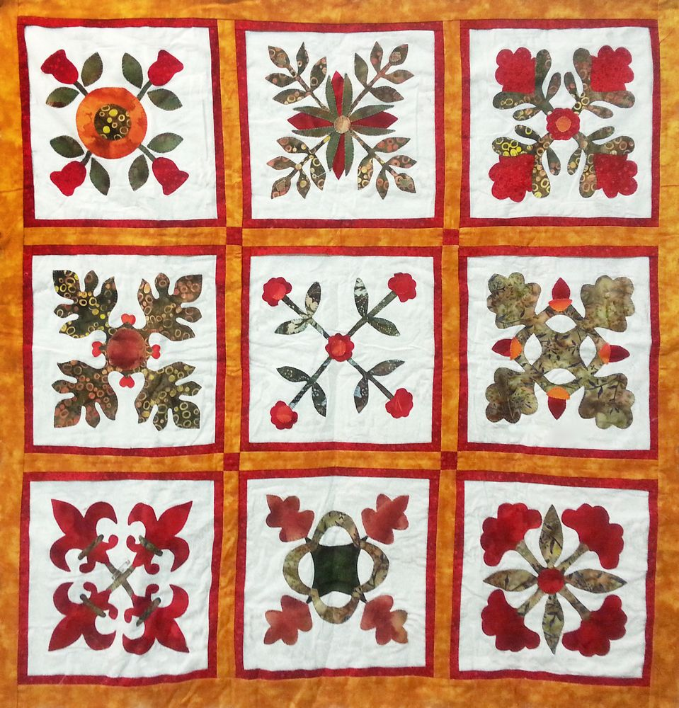 Baltimore album quilt שמיכת טלאים