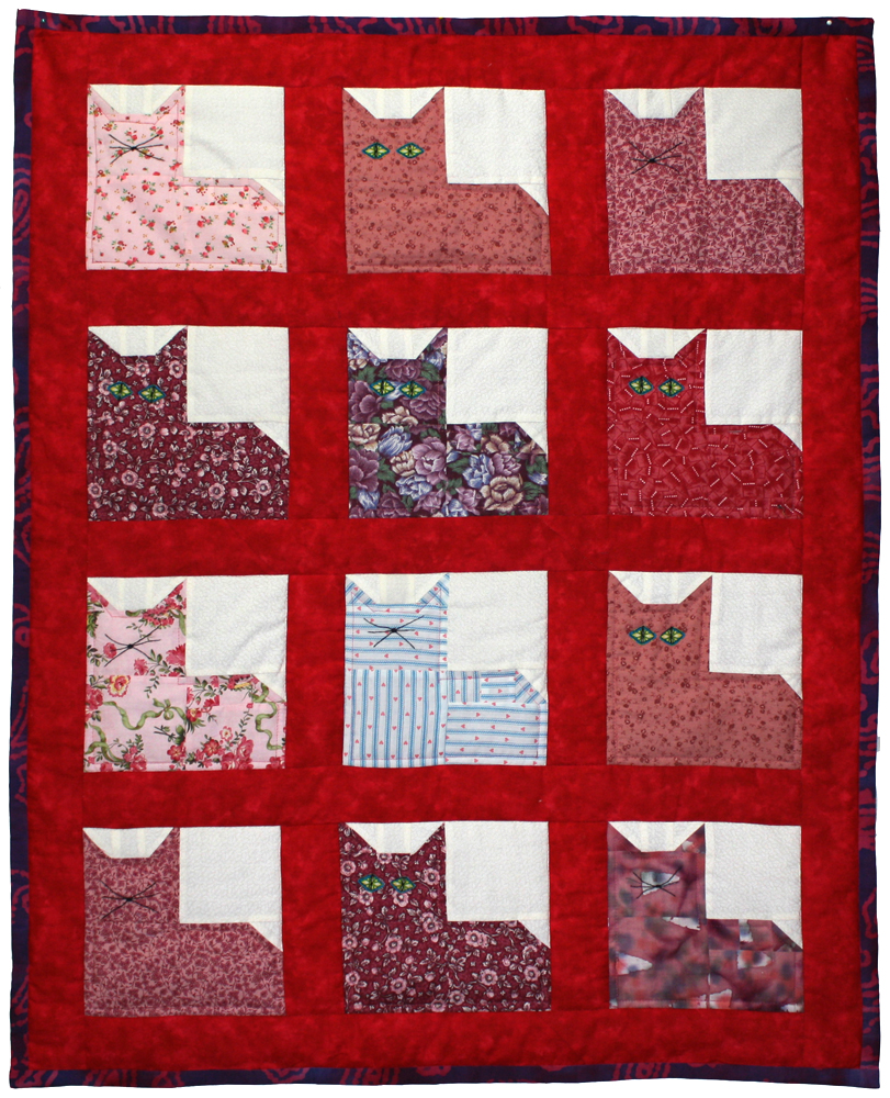 קווילט חתולים Kitty Quilt