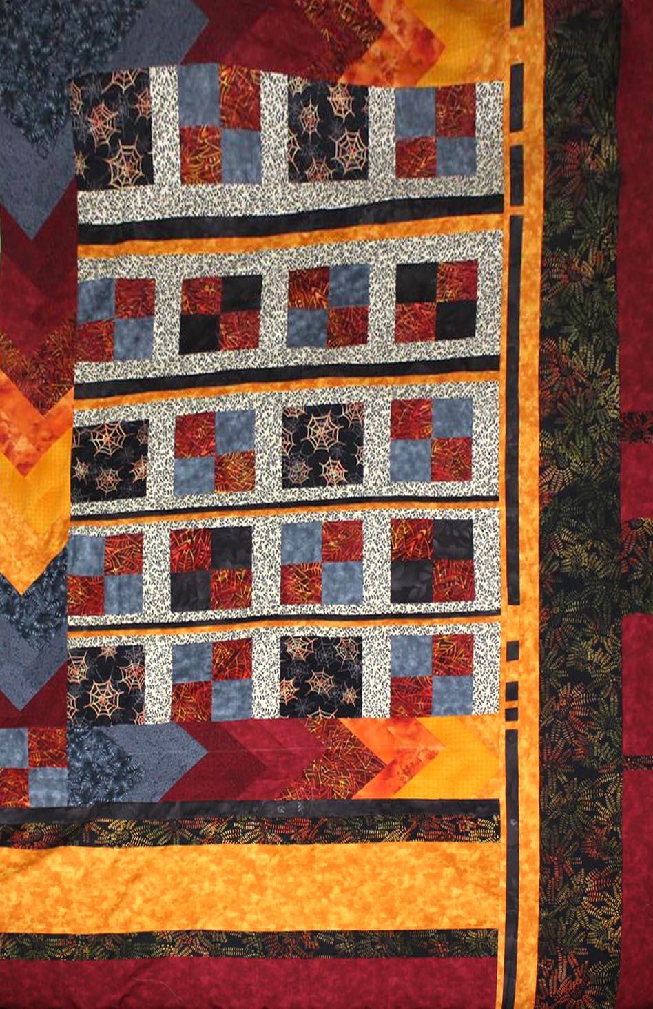 4 patch, chevron quilt קווילט שברון