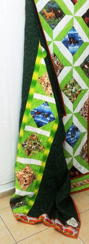 גב שמיכה עם סוסים, אמנית: רחל אפרת