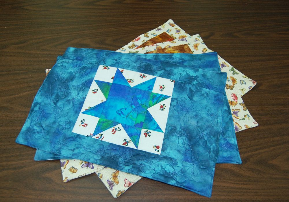 Place mat Quilts מפיות אוכל טלאים