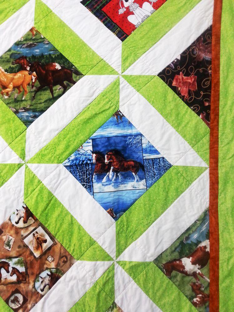 שמיכה עם סוסים, אמנית: רחל אפרת