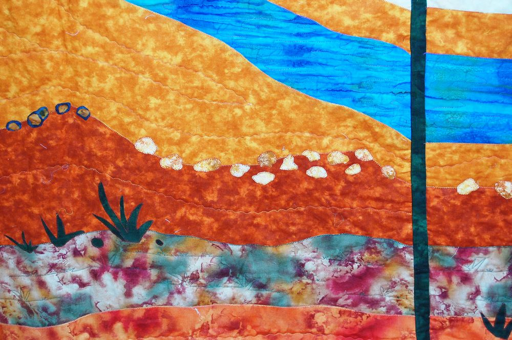 אמנית: הדס סודרי, נוף בקוים מעוגלים