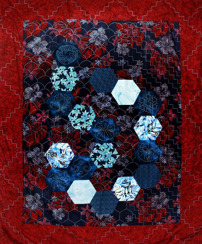 אמנית: נינה ג'ונסון, סשיקו sashiko