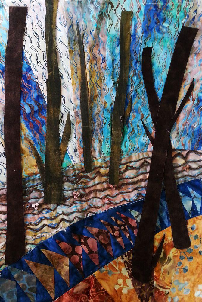 אמנית: דליה דנון, נוף בקוים מעוגלים