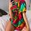 Thumbnail: Tie-Dye Sun T-Shirt Boho O Neck Printed Pullover Women's Oversize T-Shirt