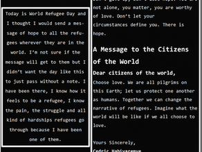 A Message to Citizens of the World